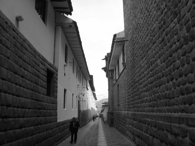 Man and the Inca Walls