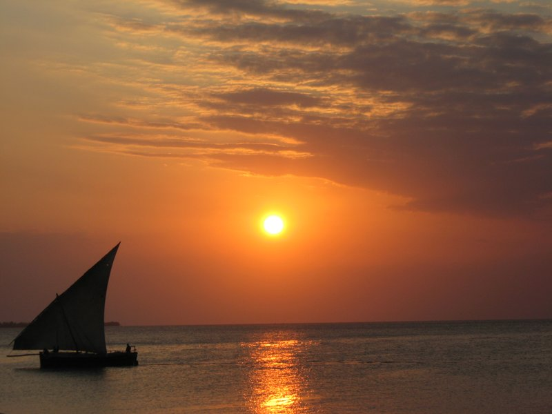 Dhow and Sunset