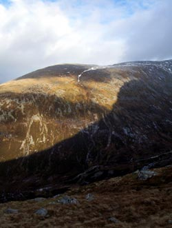 Shadowed ridge near Ben Nevis
