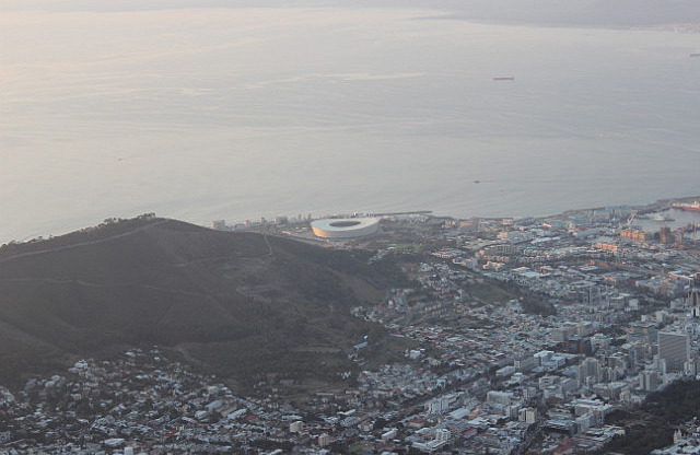 Table Mountain: View of the World Cup stadium