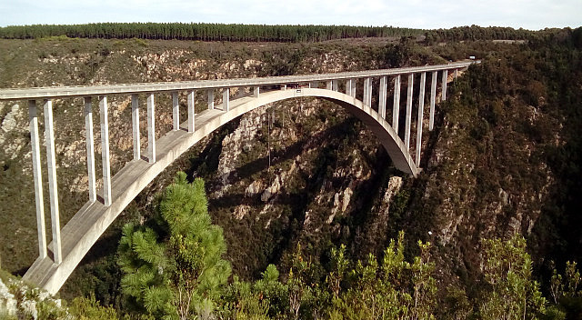 Bloukrans Bridge - world's highest bungee bridge