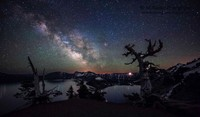 Milky Way over Crater Lake, OR,  IMG_0366