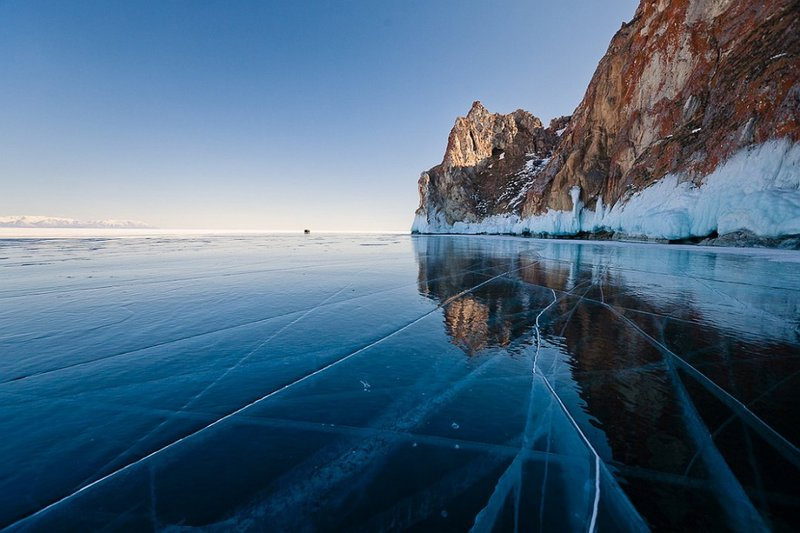 Baikal lake in winter