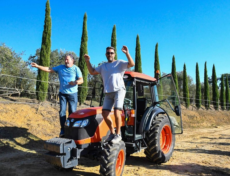 She thinks my tractors sexy.  Tuscany style