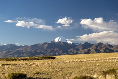 First view of Mount Kailash