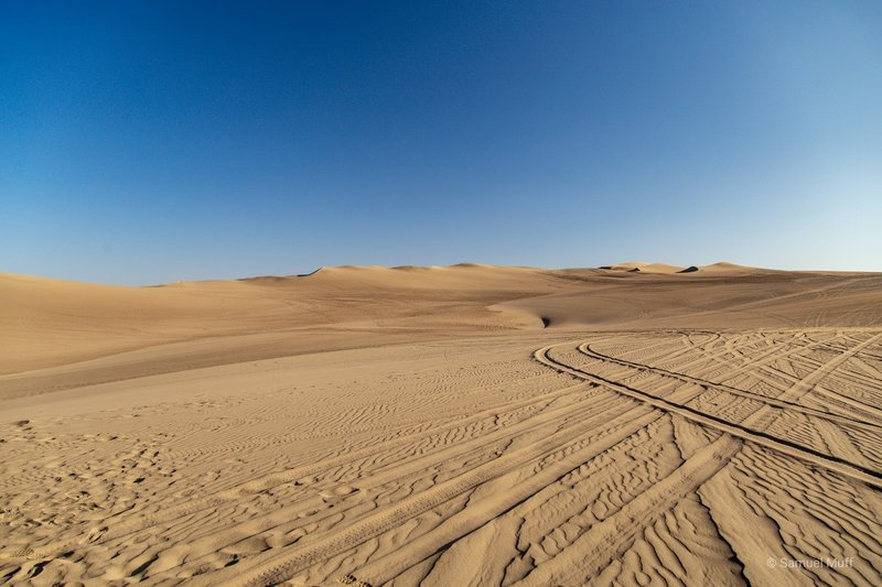 Sand dunes near Huacachina