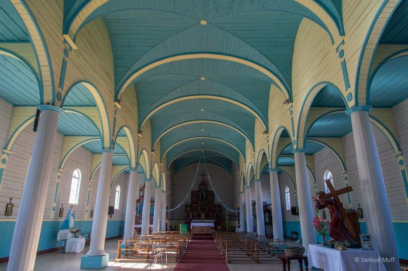 Inside of Iglesia Santa Maria in Rilán
