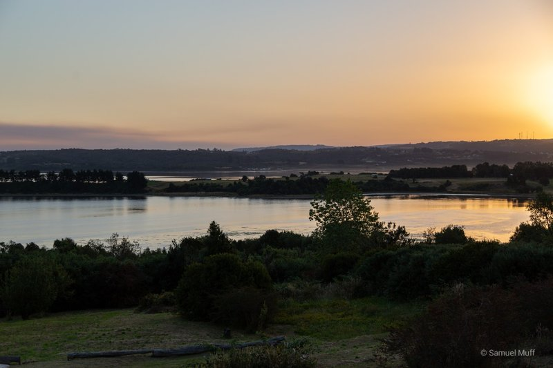 Sunset from our lodge near Ancud