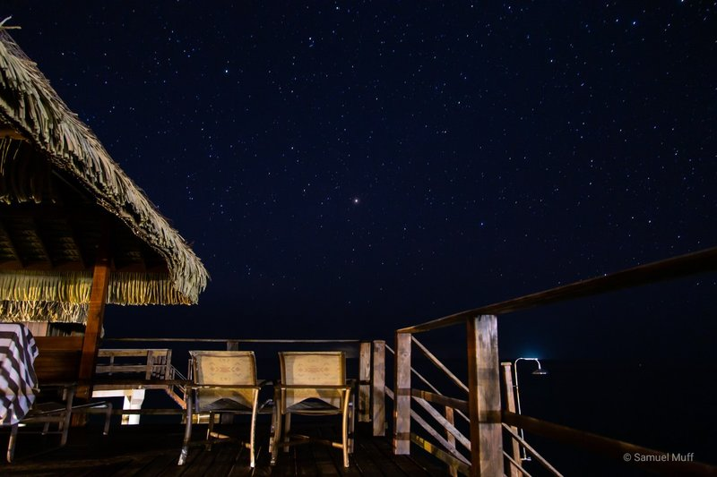 Night sky from our porch in Huahine