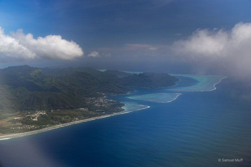 Huahine from the plane