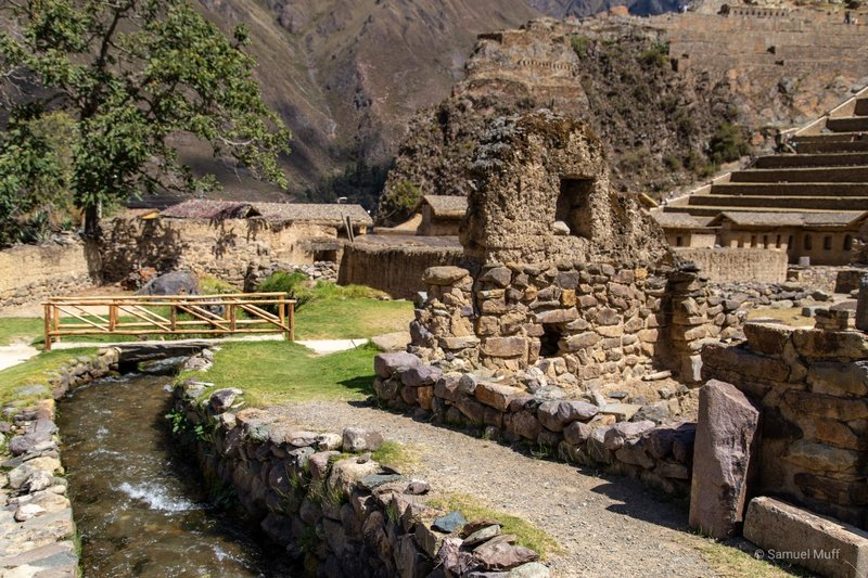 Inca-built water channel at the Ollantaytambo ruins