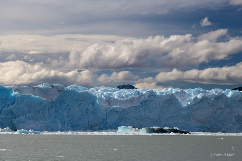 Large iceberg that just fell down from Perito Moreno glacier in front of our eyes