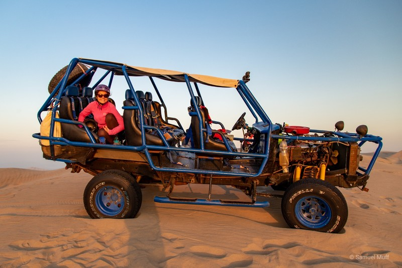 Marta on our dune buggy