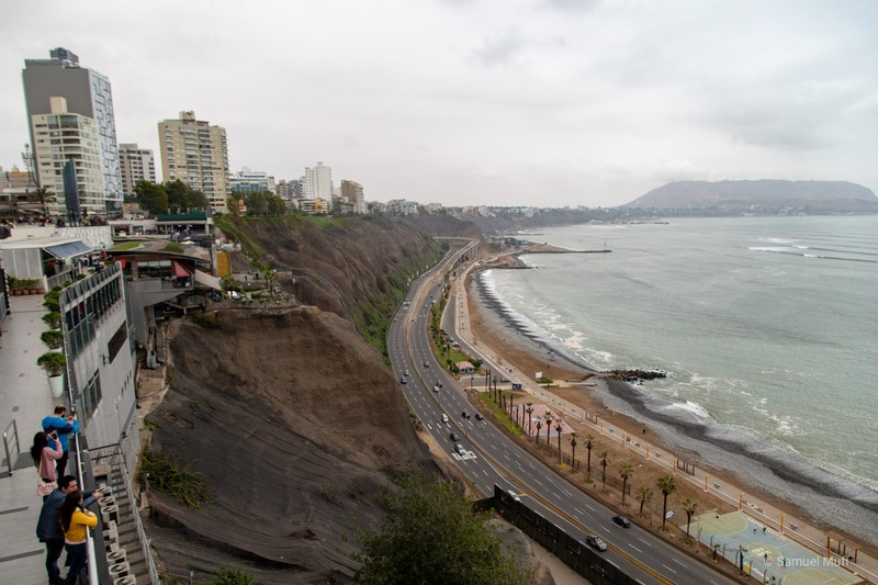 Pacific coast from the Miraflores neighborhood in Lima