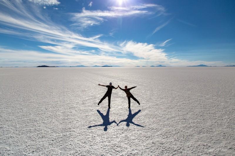 Sam and Marta on the Salar de Uyuni