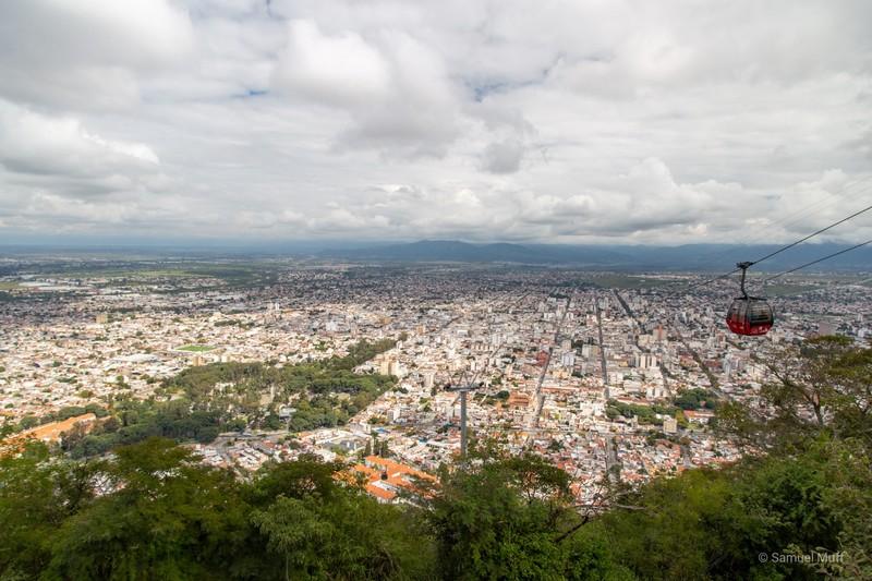 View over Salta from Cerro San Bernardo