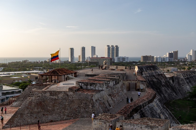 View over Castillo San Felipe de Barajas