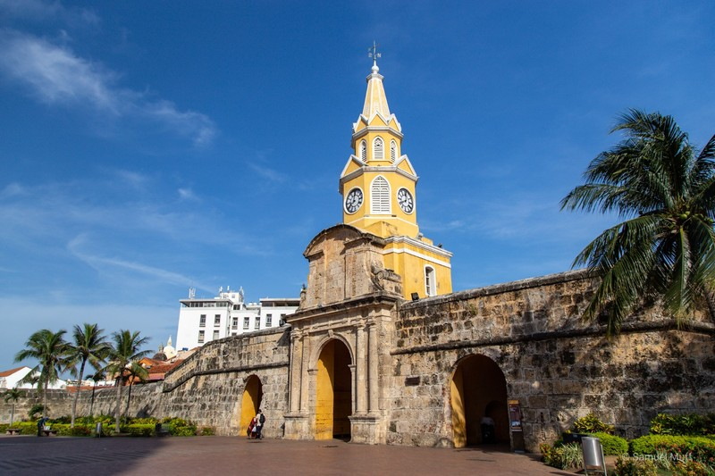 The old clock tower of Cartagena
