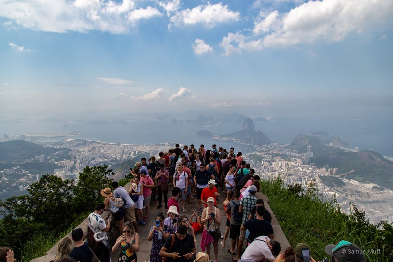 View over Rio de Janeiro from Corcovado (shared with lots of other people)