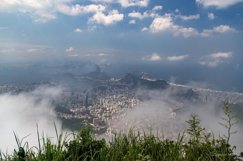 Cloudy view over Rio de Janeiro from Corcovado