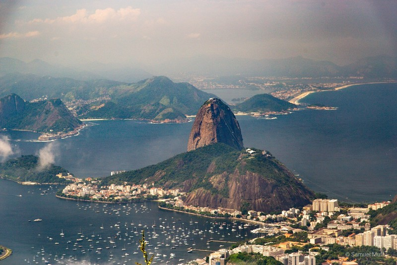 Sugarloaf Mountain, seen from Corcovado