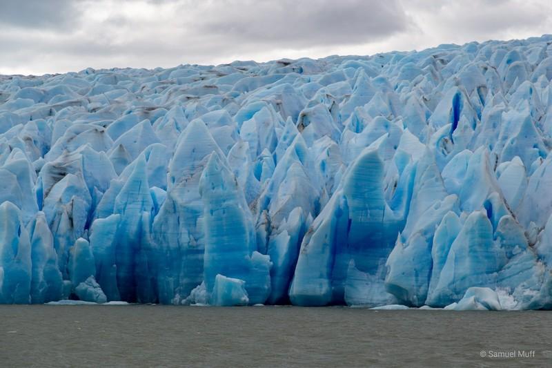 Close-up of Grey Glacier