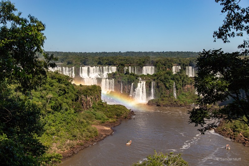 Our first view of Iguazú Falls from the Brazilian side