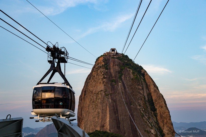 The cable car to Sugarloaf mountain