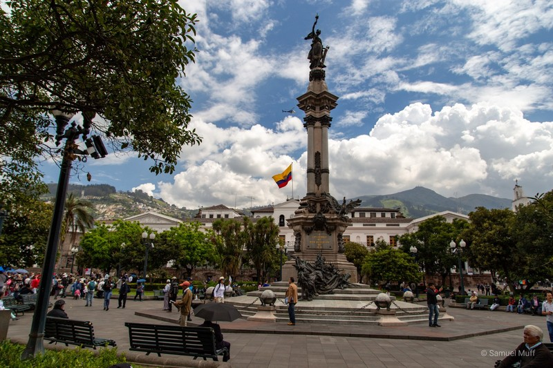 Main square and presidential palace in Quito
