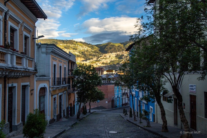 Evening light in San Blas neighborhood of Quito