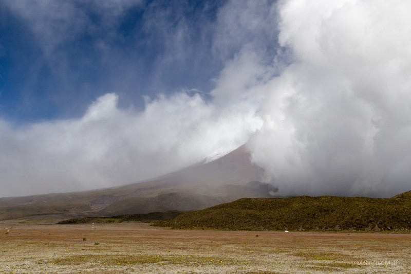 Cotopaxi in the clouds