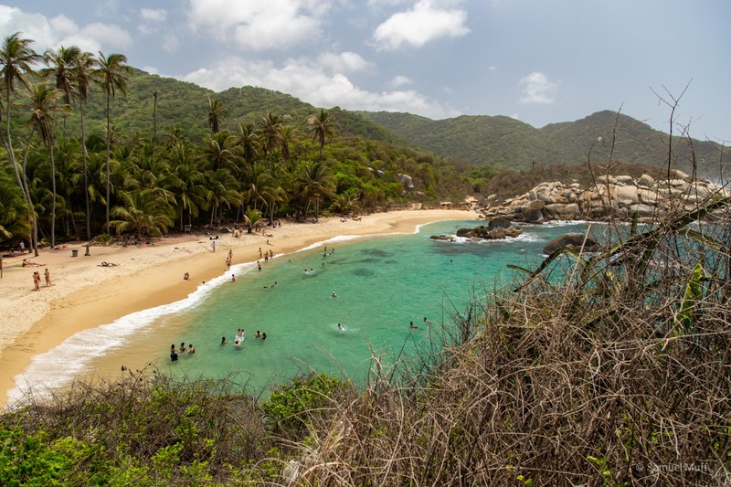 Western beach at Cabo San Juan in Tayrona National Park