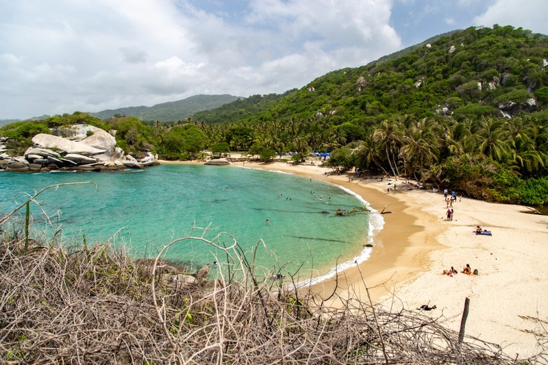 Eastern beach at Cabo San Juan in Tayrona National Park