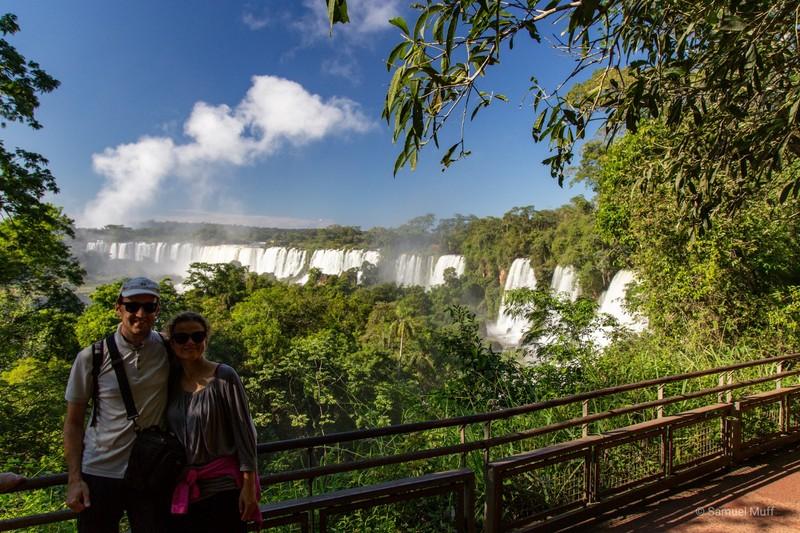 Sam and Marta in Parque Nacional Iguazú