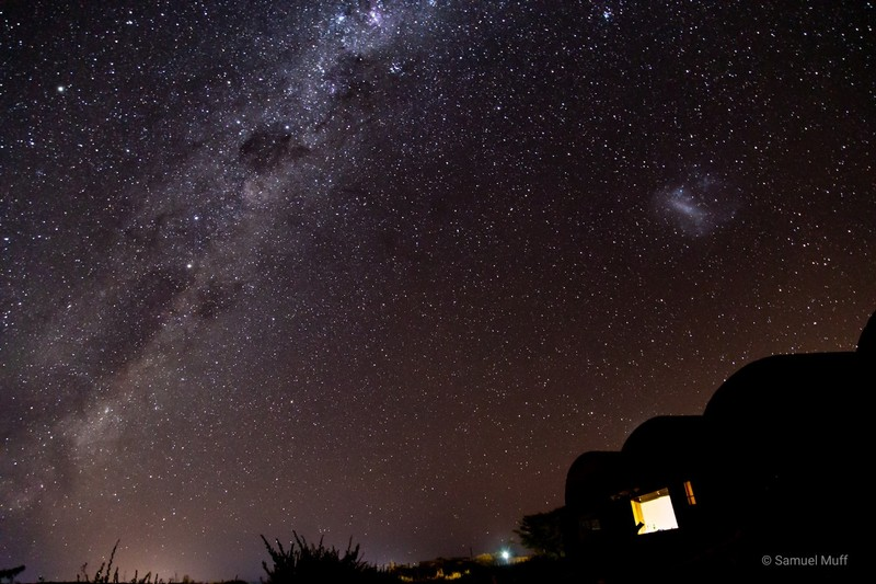 Milky Way, stars and nebula from our accommodation outside of San Pedro de Atacama