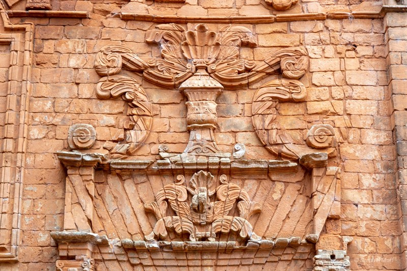 Decorative ornaments at the Jesuit ruins in Trinidad