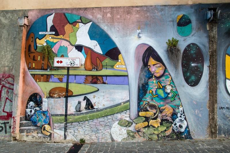 Mural in Valparaíso