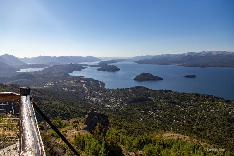 Bariloche and Lago Nahuel Huapi from Cerro Otto
