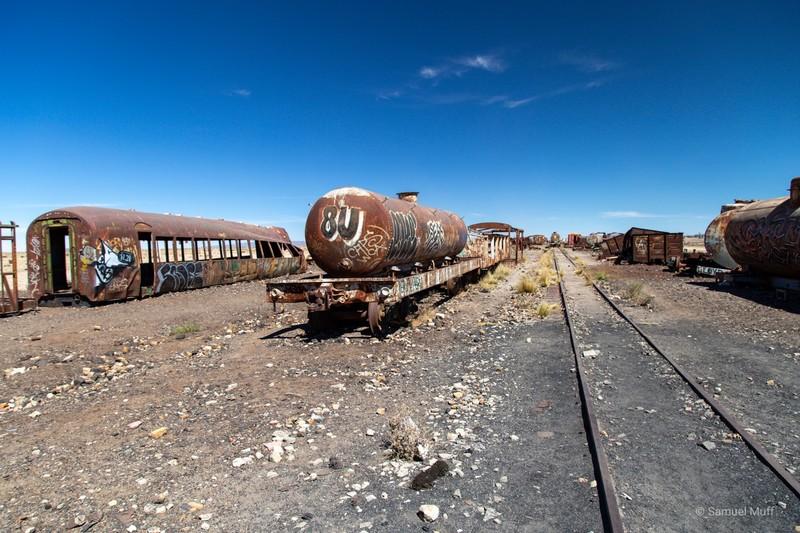 Train cemetery outside of Uyuni