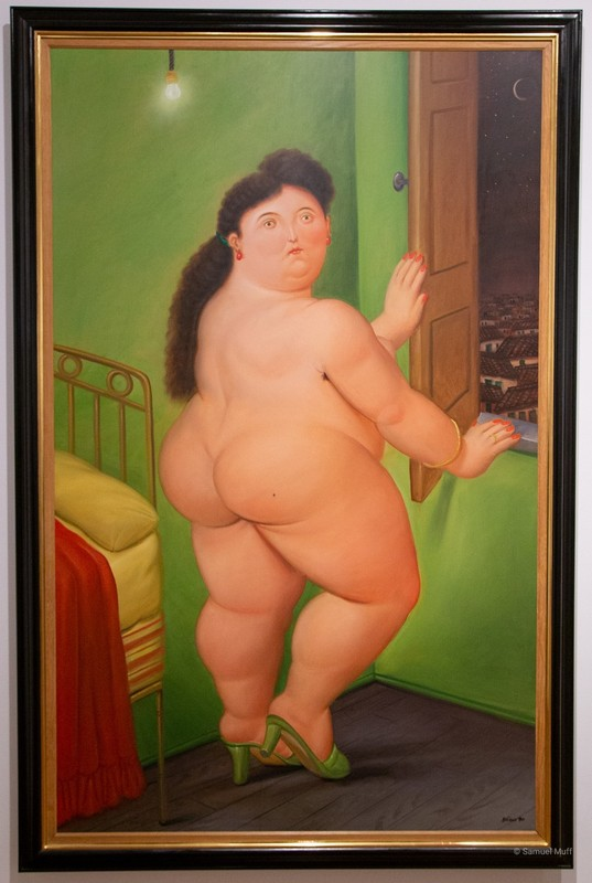 """Woman in front of a window"" at the Botero Museum in Bogota"
