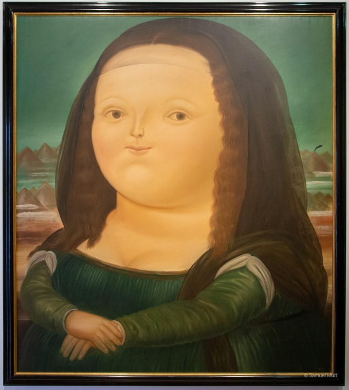 """Mona Lisa"" at the Botero Museum in Bogota"