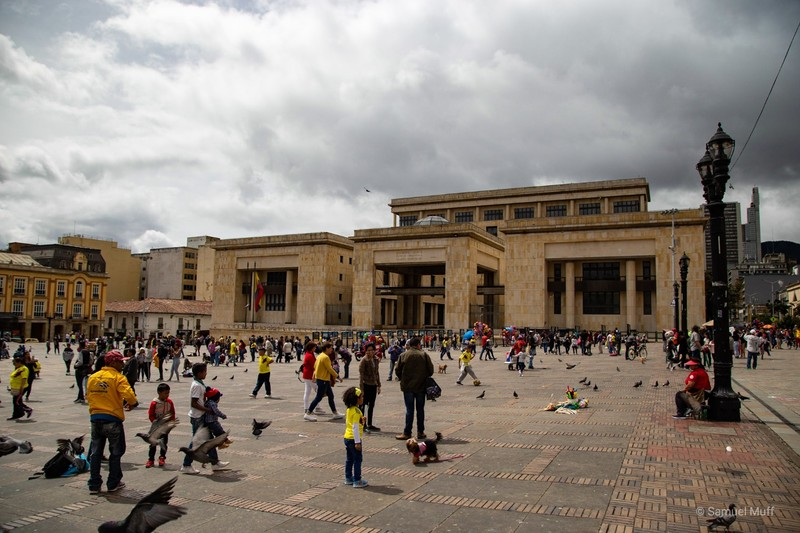 Palace of Justice of Colombia in Bogota