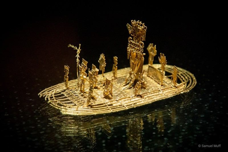 The Muisca raft at the Gold Museum in Bogota
