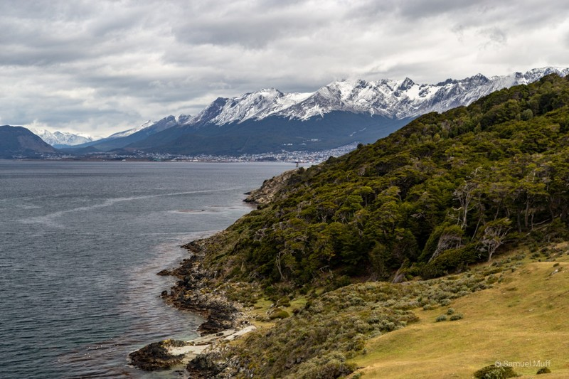 View back to Ushuaia from our hike to Estancia Túnel