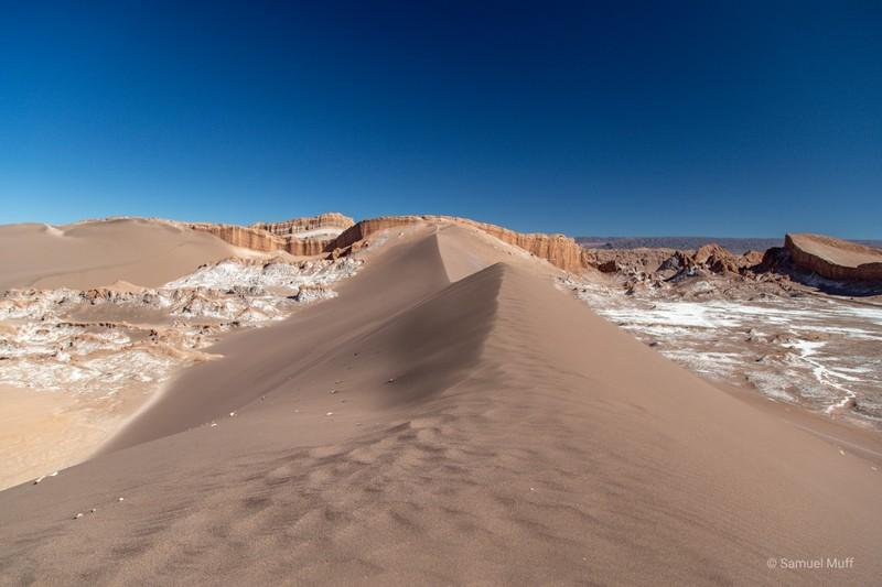 Sand dune in the Valle de la Luna