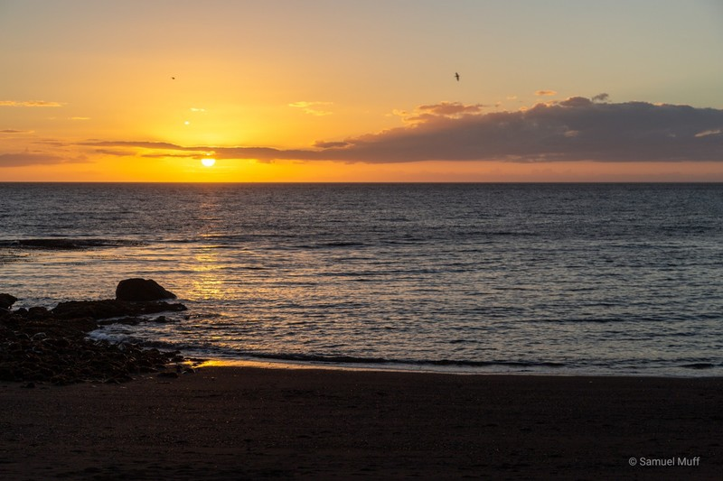 Sunset at the beach in Santa Barbara
