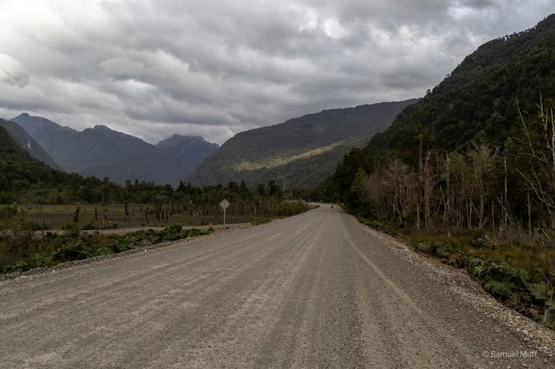 Unpaved segment of the Carretera Austral south of Parque Nacional Queulat