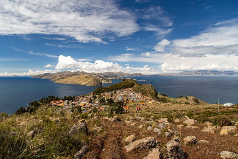 Yumani on Isla del Sol, seen from Cerro Palla Khasa