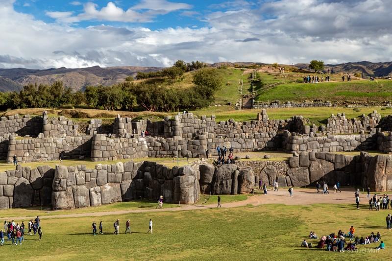 Inca stone walls in Saqsaywaman