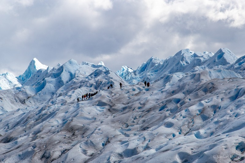Trekking group on Perito Moreno glacier